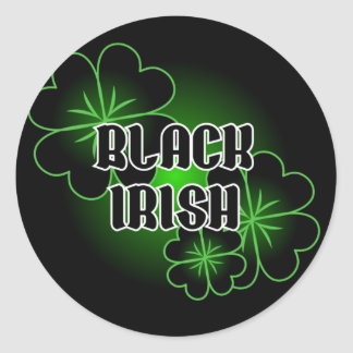 Black Irish Classic Round Sticker