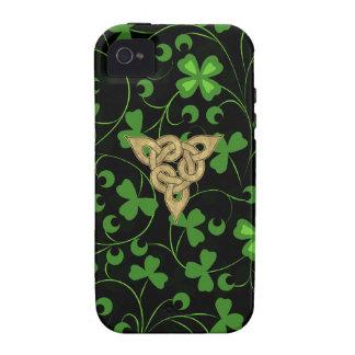 Black Irish Knotwork iPhone 4/4S Cases