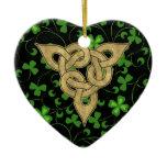 Black Irish Knotwork Ceramic Ornament