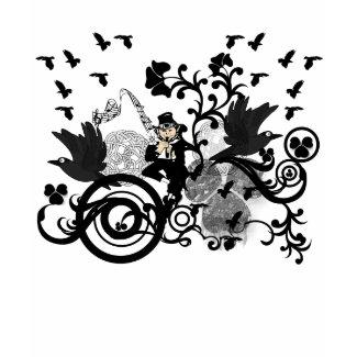 Black Irish Swirls and Leprechauns shirt