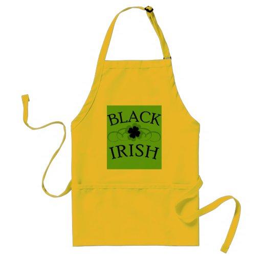 Black Irish Tshirt for St. Patrick's Day Aprons