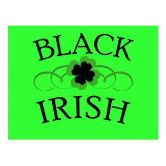 Black Irish Tshirt for St. Patrick's Day Post Cards