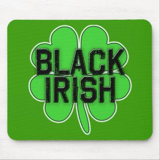 Black Irish with Big Shamrock for St Patricks Day Mousepads