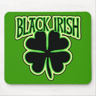 Black Irish with Large Shamrock in Black Mouse Pad