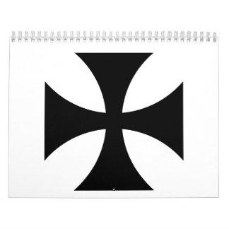 Black iron cross calendars