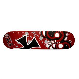 black iron cross skateboard deck
