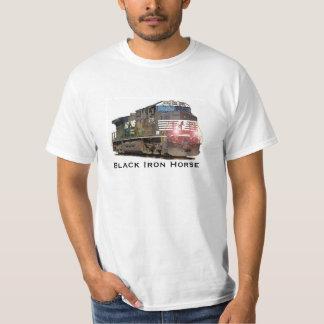 Black Iron Horse Locomotive T-Shirt