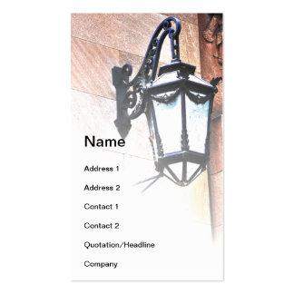 black iron wall lantern business card