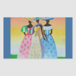 Black is Beautiful African American Art Rectangular Sticker