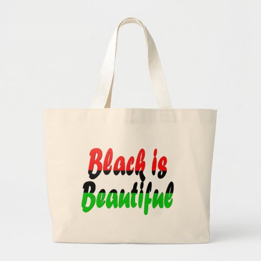 Black is Beautiful Pan-African Flag Jumbo Tote Bag