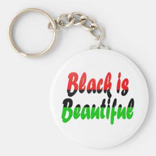 Black is Beautiful Pan-African Flag Keychain