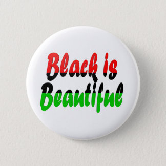 Black is Beautiful Pan-African Flag Pinback Button