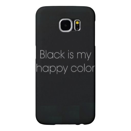 black is my happy color iphone 6 phone case zazzle. Black Bedroom Furniture Sets. Home Design Ideas