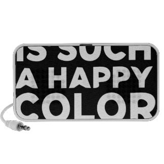 Black is Such a Happy Color Darling Portable Speaker