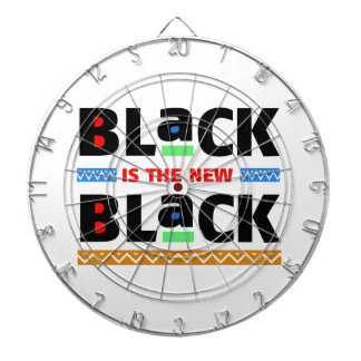 Black is the new Black Dartboard With Darts