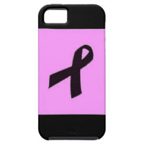 Black is the New Pink iPhone SE, 5/5S Case - Tough