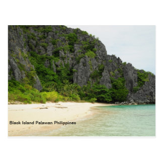 Black Island Palawan Philippines Postcard