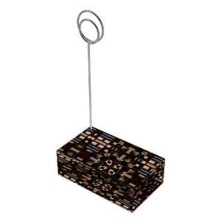 Black Ivory Brown Deco Mosaic Table Card Holder