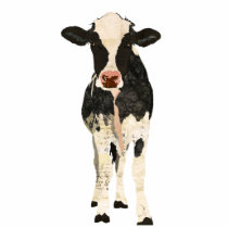 Black & Ivory Cow Sculpture