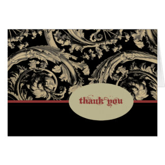 Black Ivory Red Goth Thank You Stationery Note Card