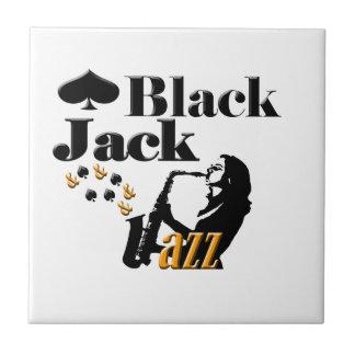 Black Jack and Jazz Ceramic Tile