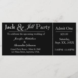 d0efde34811e Black Jack and Jill Shower Ticket Invitation