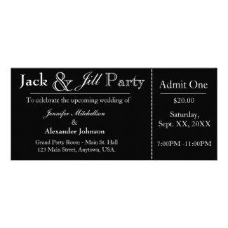 Black Jack and Jill Shower Ticket Invitation Rack Card