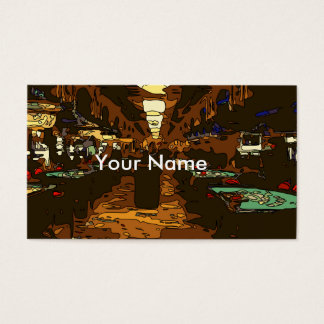 Black Jack and Poker Tables in Las Vegas Business Card