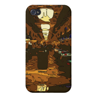 Black Jack and Poker Tables in Las Vegas Case For iPhone 4