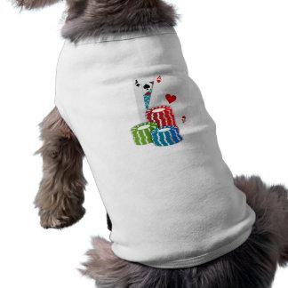Black Jack Cards With Poker Chips Dog T-shirt