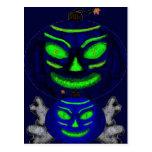 Black Jack-o-Lanterns Post Card