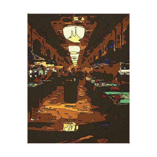 Black Jack y tablas del póker en Las Vegas Lona Envuelta Para Galerías