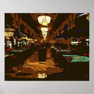Black Jack y tablas del póker en Las Vegas Poster