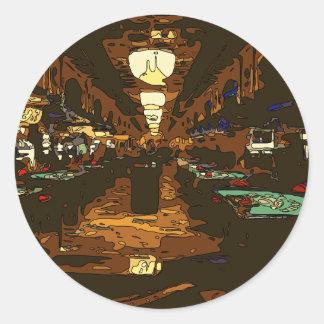 Black Jack y tablas del póker en Las Vegas Pegatina Redonda