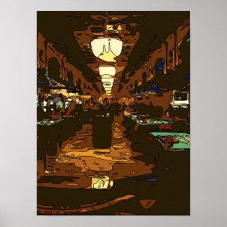 Black Jack y tablas del póker en Las Vegas Póster