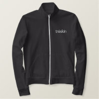 Black Jacket with Embroidered White Tr�Skin Logo
