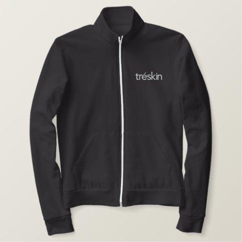 Black Jacket with Embroidered White TréSkin Logo
