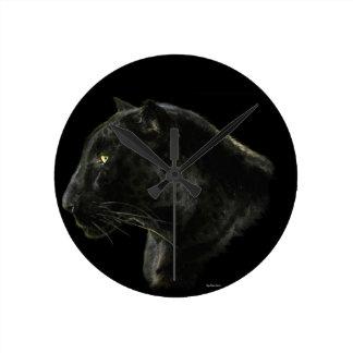 Black Jaguar Big Cat Animal Loveru0027s Wall Clock