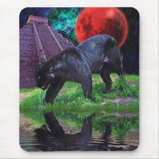 Black Jaguar, Big Cat at Chichen Itza Mouse Pad