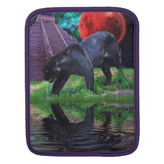 Black Jaguar & Chichen Itza Big Cat iPad Sleeve