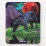 Black Jaguar & Chichen Itza Temple & Lunar Eclipse Mousepads