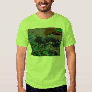black jaguar digitized art t-shirt