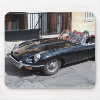 Black Jaguar E Type Mouse Pad