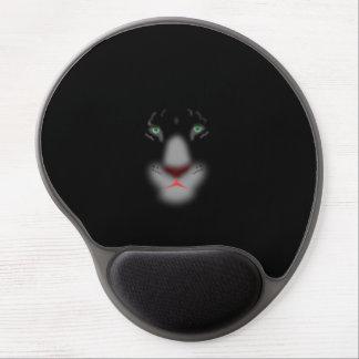 Black Jaguar or panther Big Cat Face Gel Mousepad