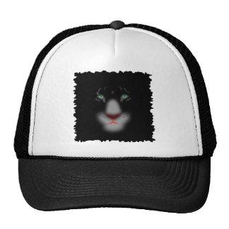 Black Jaguar or panther Big Cat Face Trucker Hat