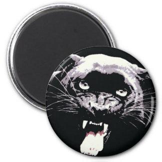 Black Jaguar Panther 2 Inch Round Magnet