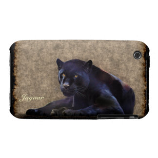 Black Jaguar Panther Animal-Lover iPhone Case