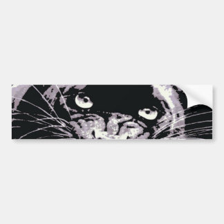 Black Jaguar Panther Bumper Sticker