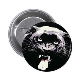Black Jaguar Panther Button