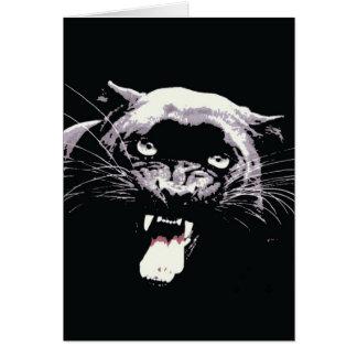 Black Jaguar Panther Card